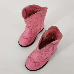 Healthtex Baby Cowgirl Pink Western Boots Size 4